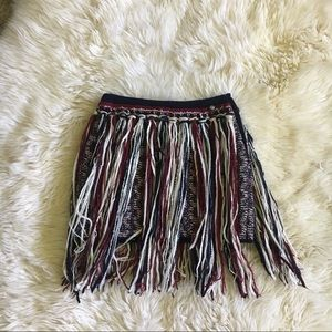 61444a86f CHANEL. Chanel Dallas Cashmere blend skirt fringe 34 XS